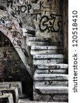 Run Down Staircase In An...