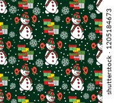 seamless pattern for christmas... | Shutterstock .eps vector #1205184673