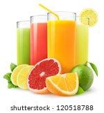 isolated drinks. glasses of... | Shutterstock . vector #120518788