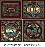set of 4 vintage labels for... | Shutterstock .eps vector #1205191366