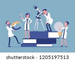 scientists group researching... | Shutterstock .eps vector #1205197513