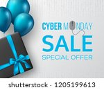 cyber monday sale poster or...   Shutterstock .eps vector #1205199613