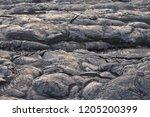 close up of vulcano lava in...