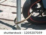 rear wheel of powerful... | Shutterstock . vector #1205207059