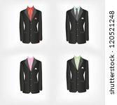 office dress  black jacket ... | Shutterstock . vector #120521248