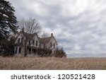 Old Farmhouse With Clouds