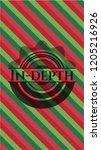 in depth christmas badge. | Shutterstock .eps vector #1205216926