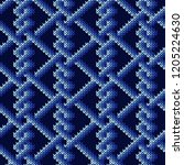 knitted seamless decorative...   Shutterstock .eps vector #1205224630