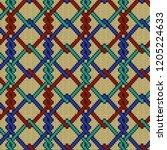 knitted seamless ornate pattern ...   Shutterstock .eps vector #1205224633