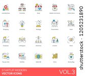 startup icons including local... | Shutterstock .eps vector #1205231890