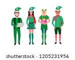 Mix Race People Christmas Elf...