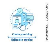 create account concept icon.... | Shutterstock .eps vector #1205237293