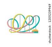 roller coaster  amusement park... | Shutterstock .eps vector #1205239969