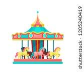 Carousel With Horses  Amusemen...