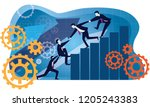 vector illustration. business... | Shutterstock .eps vector #1205243383