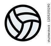 volleyball beach sports | Shutterstock .eps vector #1205255290