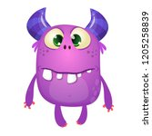 funny silly cartoon monster... | Shutterstock .eps vector #1205258839
