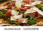 artisan pizza with pancetta ... | Shutterstock . vector #120525898