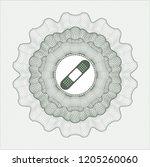 green rosette  money style... | Shutterstock .eps vector #1205260060