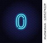 neon number  symbol  sign....   Shutterstock .eps vector #1205274229