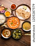indian lunch   dinner main... | Shutterstock . vector #1205287579