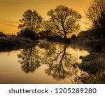 Sunrise Behind River Kennet In...