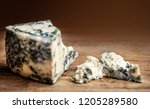 blue cheese gorgonzola on a... | Shutterstock . vector #1205289580