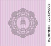 microphone icon inside retro... | Shutterstock .eps vector #1205290003