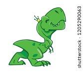 dinosaur. vector illustration.... | Shutterstock .eps vector #1205290063