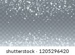falling snow background.... | Shutterstock .eps vector #1205296420