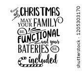 funny christmas quote. at... | Shutterstock .eps vector #1205303170