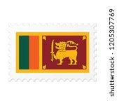 sri lanka flag on white... | Shutterstock .eps vector #1205307769