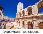 arles  france. ancient roman... | Shutterstock . vector #1205309083