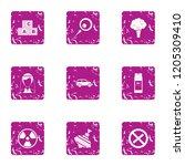useful icons set. grunge set of ...   Shutterstock . vector #1205309410