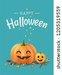 happy halloween nice greeting... | Shutterstock .eps vector #1205319559