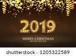 2019 count numbers for greeting ... | Shutterstock .eps vector #1205322589