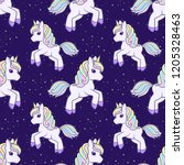 seamless pattern with running... | Shutterstock .eps vector #1205328463