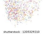 colorful explosion of confetti. ... | Shutterstock . vector #1205329210