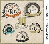 vintage style 10 anniversary... | Shutterstock .eps vector #120532993