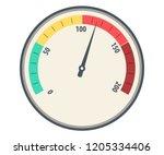 speedometer basic vector. color ... | Shutterstock .eps vector #1205334406