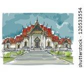 sketchbook thailand temple  ... | Shutterstock .eps vector #120533554