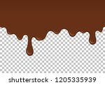 brown dripping slime seamless... | Shutterstock .eps vector #1205335939