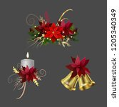 christmas elements for your... | Shutterstock .eps vector #1205340349