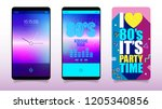 smartphone or web application... | Shutterstock .eps vector #1205340856