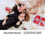 two elegant  gorgeous women in...   Shutterstock . vector #1205341360