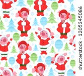 vector endless pattern with... | Shutterstock .eps vector #1205345086