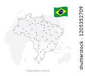 global logistics network... | Shutterstock .eps vector #1205352709