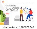 creative landing page website... | Shutterstock .eps vector #1205362663