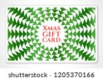 holiday gift card with abstract ... | Shutterstock .eps vector #1205370166