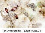 3d wallpaper design with grunge ... | Shutterstock . vector #1205400676